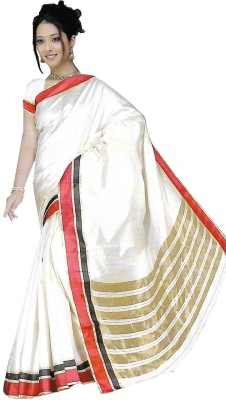 TrulyDesi Solid Kanjivaram Silk Sari
