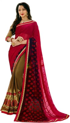 Indrakshi Collections Embriodered Fashion Synthetic Sari