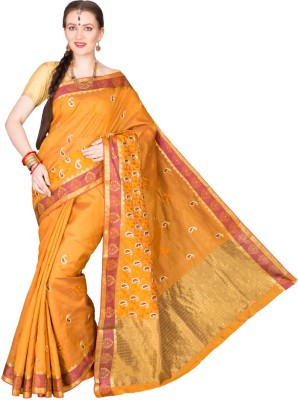 Shristi Self Design Fashion Handloom Tussar Silk Sari