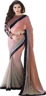 Arya Fashion Self Design Bollywood Georgette Sari