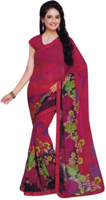 Rekha maniyar Floral Print Fashion Pure Chiffon Sari