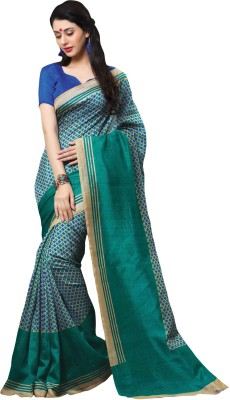 kothari creation Printed Daily Wear Silk Sari