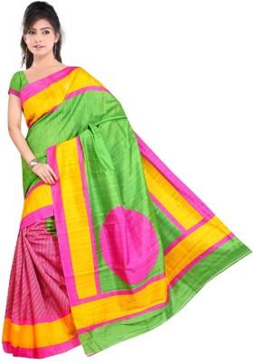 Snreks Collection Printed Bhagalpuri Art Silk Sari