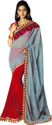 Saloni Embriodered Bollywood Synthetic Sari