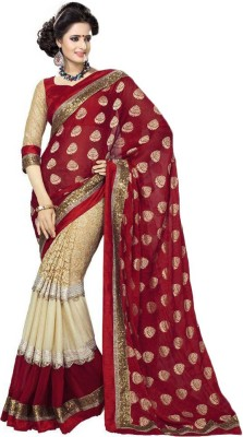 Darkroom Self Design Bollywood Viscose Sari