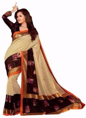 svb sarees Printed Assam Silk Cotton Linen Blend Sari