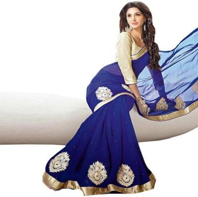RZ Fashion Self Design Bollywood Georgette Sari