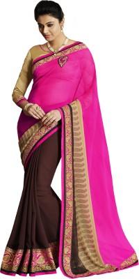Krazzydesi Embriodered Rajshahi Georgette Sari