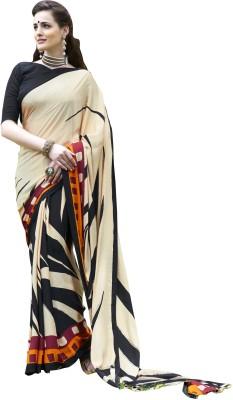 Awesome Printed Fashion Crepe Sari