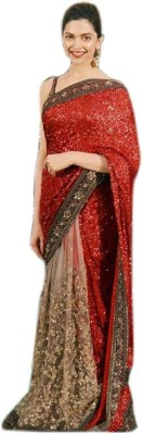 Bollywood Designer Solid Fashion Net Sari