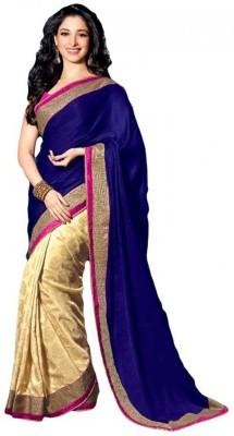 Deepak Sari Solid Bollywood Pure Georgette Sari