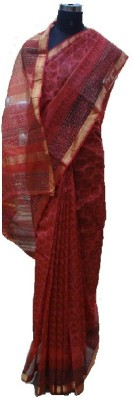 malvika exclusive Printed Maheshwari Silk Cotton Blend Sari
