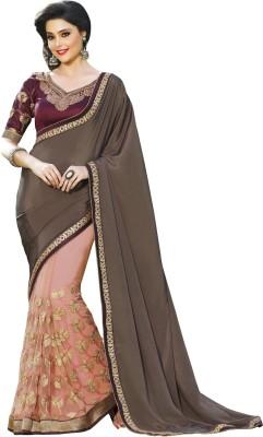 Fashion Forever Embriodered Fashion Chiffon Sari