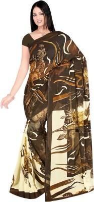 Fashion Factory Floral Print Daily Wear Georgette Sari
