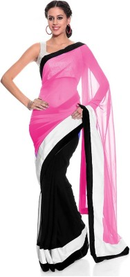 Gamthi Ethics Plain Daily Wear Chiffon Sari