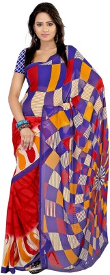 Rumsha sarees Striped Chanderi Cotton Sari