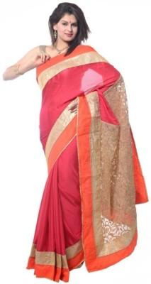 Fashion And Hub Solid Fashion Georgette Sari