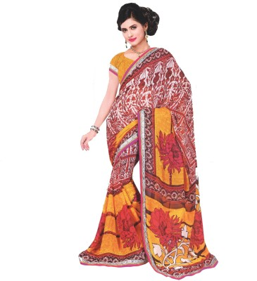 Sanidhya Geometric Print Fashion Georgette Sari