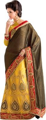 Aasvaa Self Design Lehenga Saree Georgette Sari