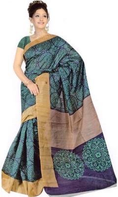 The Designer House Self Design, Printed Bhagalpuri Handloom Silk Sari