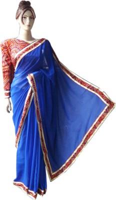 stylish sarees Plain Bandhani Synthetic Sari