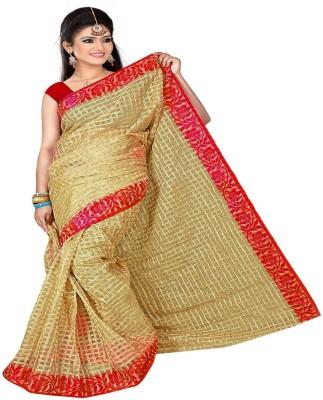 Classic Selection Checkered Banarasi Handloom Tissue Sari