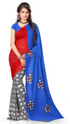 Adah Fashions Printed Fashion Georgette Sari