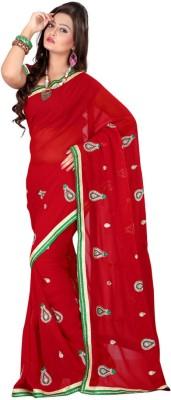 Laxmi Sarees Embriodered Fashion Georgette Sari