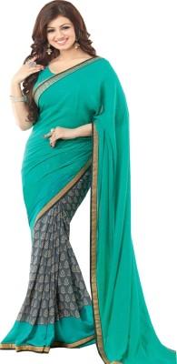 Ethnic Bazaar Printed Fashion Pure Georgette Sari