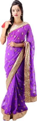 Laxmi Kripa Floral Print Fashion Handloom Chiffon Sari