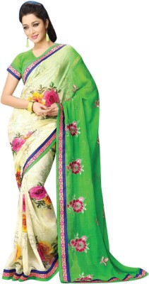 Vibes Embriodered Fashion Synthetic Georgette Sari