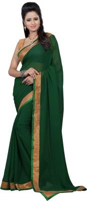 Elevate Women Plain Fashion Georgette Sari