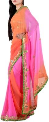 Prishi impex Self Design Fashion Georgette Sari