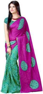 Increadibleindianwear Self Design Bandhani Silk Sari