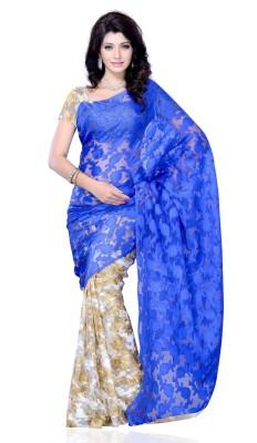 JTInternational Self Design Fashion Jacquard, Georgette Sari