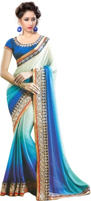 Greshadesigner Self Design Fashion Georgette Sari