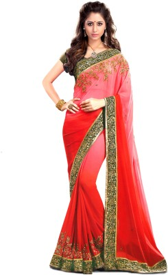 JS Pavitra Fabrics Embriodered Fashion Georgette Sari