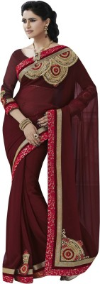 Dream Saree Embriodered Daily Wear Chiffon Sari