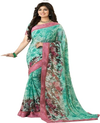 Z HOT FASHION Floral Print Fashion Georgette Sari
