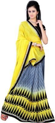 Diaonj Embriodered Fashion Pure Chiffon Sari