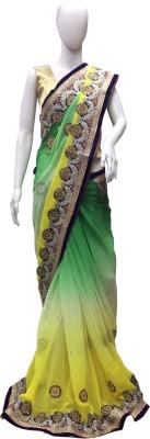 Riva Self Design Fashion Georgette Sari