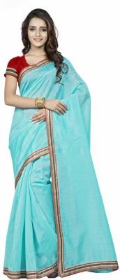 Saara Plain Bhagalpuri Silk Saree(Blue) at flipkart