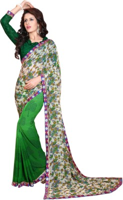KL COLLECTION Floral Print Fashion Synthetic Sari