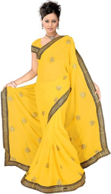 Shraddha Fashion Self Design Fashion Chiffon Sari