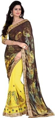Kabeer Creation Embriodered Daily Wear Handloom Satin Sari