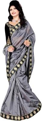 Hari Krishna sarees Embriodered Bollywood Handloom Flannel Sari