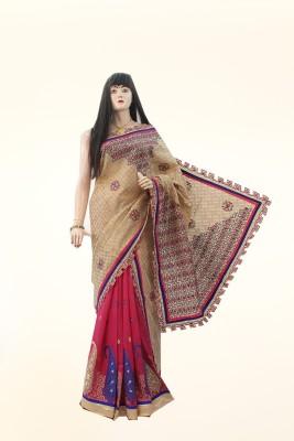 Dhaarona Style Boutique Embriodered, Self Design Fashion Chanderi, Cotton Sari