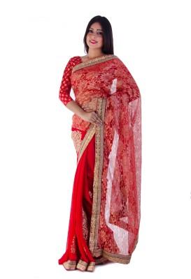 Aryya Embriodered Fashion Chiffon, Net Sari
