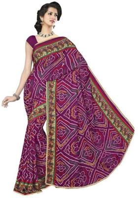 Chunarlifestyle Printed Bandhani Georgette Sari