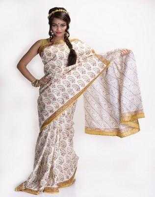 Nishiva Printed Kosa Silk Sari